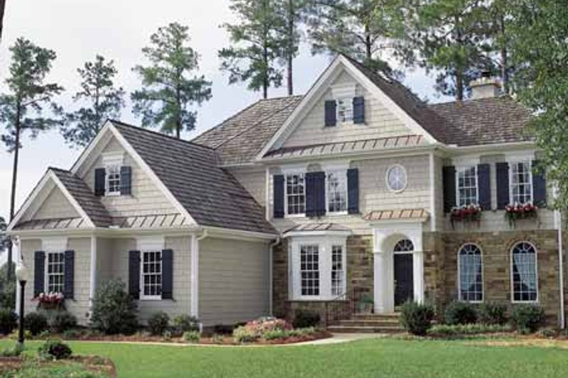 House Plan Design - Colonial Exterior - Front Elevation Plan #429-69