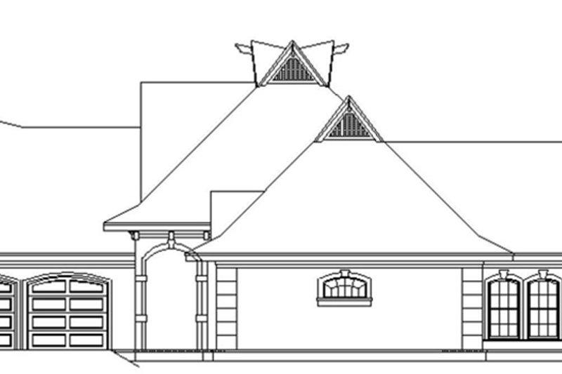 European Exterior - Rear Elevation Plan #45-568 - Houseplans.com