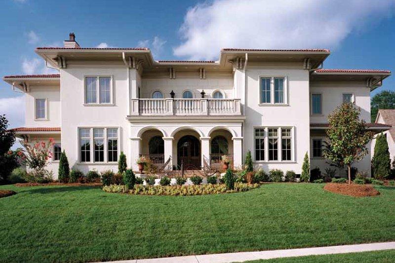 Dream House Plan - Mediterranean Exterior - Front Elevation Plan #453-383