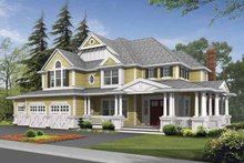 Country Exterior - Front Elevation Plan #132-492