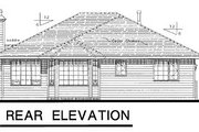 Traditional Style House Plan - 3 Beds 2 Baths 1326 Sq/Ft Plan #18-182 Exterior - Rear Elevation
