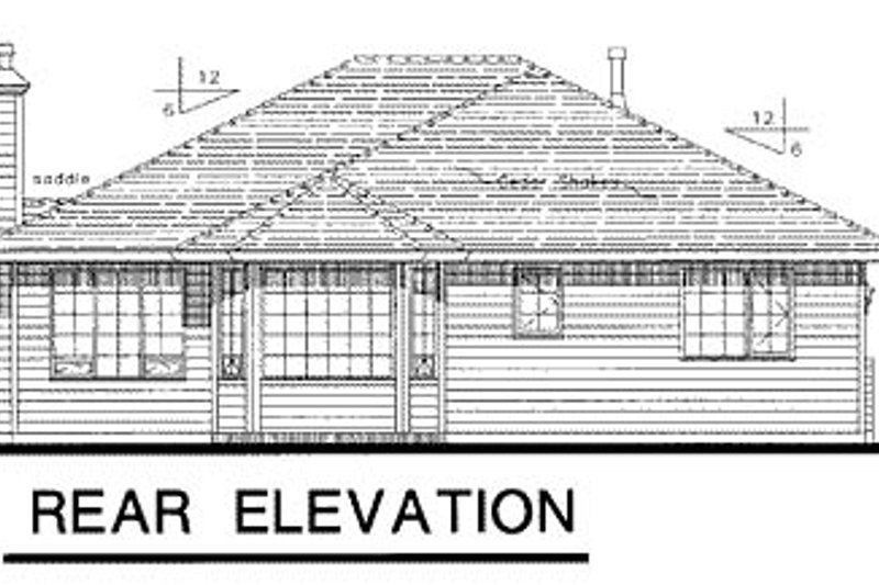 Traditional Exterior - Rear Elevation Plan #18-182 - Houseplans.com