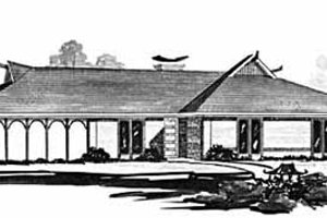 Ranch Exterior - Front Elevation Plan #36-376