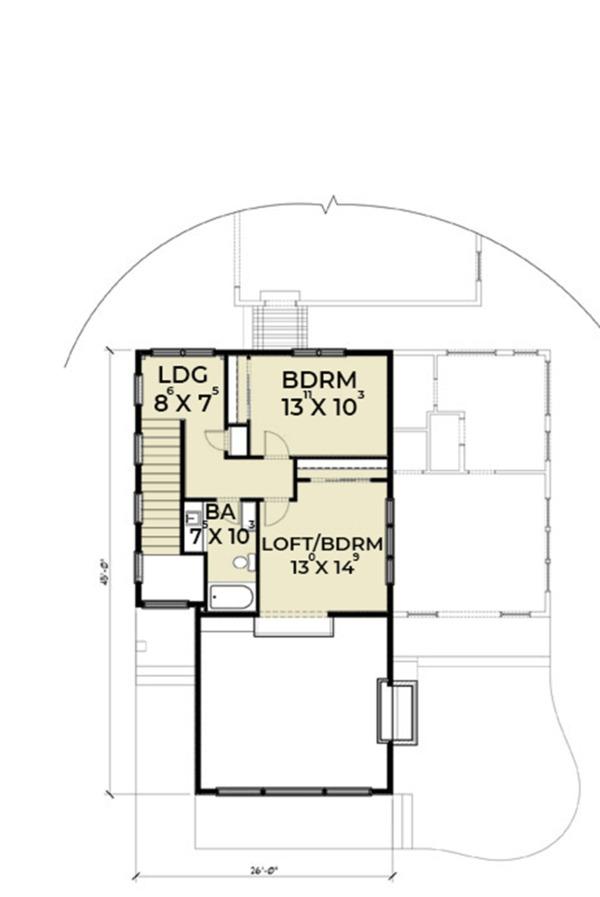 Contemporary Floor Plan - Upper Floor Plan Plan #1070-14