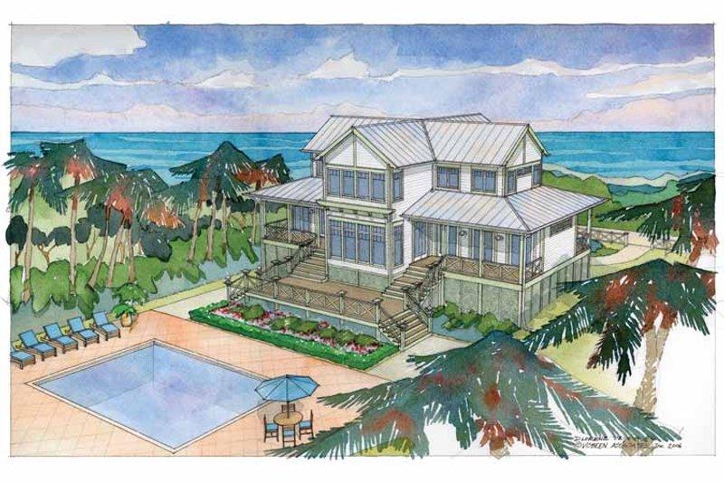 Country Exterior - Rear Elevation Plan #928-57 - Houseplans.com