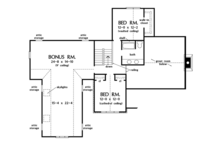 European Floor Plan - Upper Floor Plan Plan #929-907