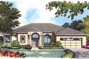 Mediterranean Exterior - Front Elevation Plan #1015-10