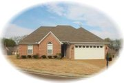 European Style House Plan - 4 Beds 2 Baths 1516 Sq/Ft Plan #81-1413 Exterior - Front Elevation