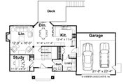 Farmhouse Style House Plan - 3 Beds 2.5 Baths 1964 Sq/Ft Plan #928-6 Floor Plan - Main Floor Plan