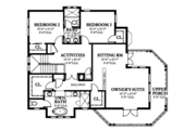 Country Style House Plan - 4 Beds 4.5 Baths 3327 Sq/Ft Plan #1058-149 Floor Plan - Upper Floor Plan