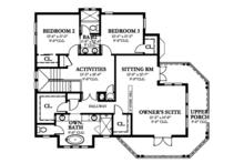 Country Floor Plan - Upper Floor Plan Plan #1058-149