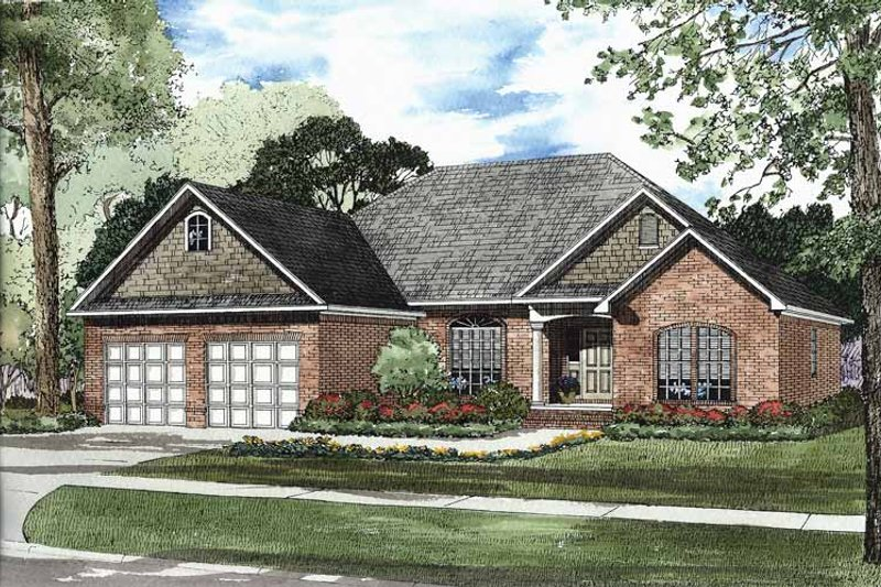 Traditional Exterior - Front Elevation Plan #17-2877 - Houseplans.com