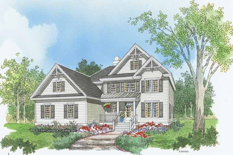 Home Plan - Traditional Exterior - Front Elevation Plan #929-561