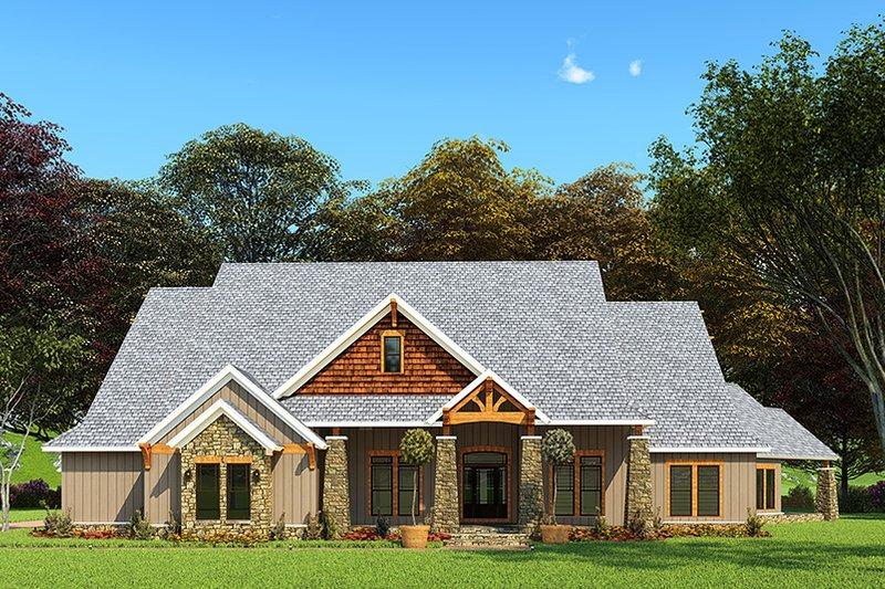 House Plan Design - Craftsman Exterior - Front Elevation Plan #923-162
