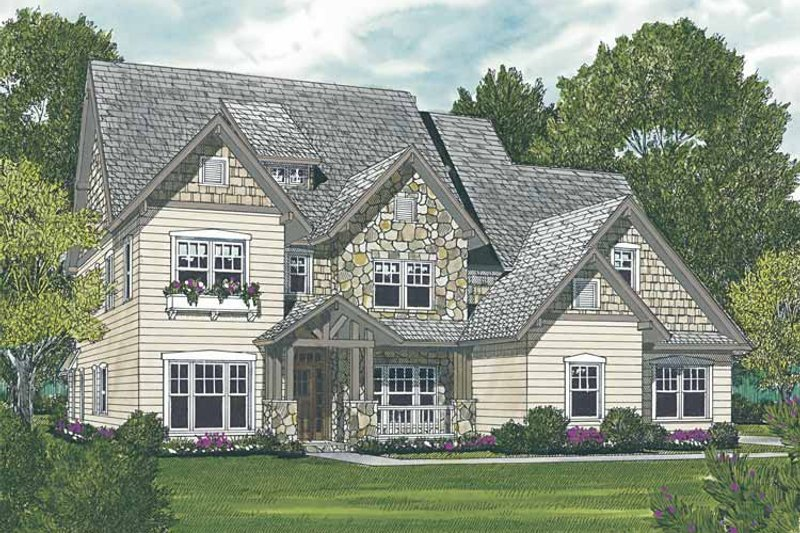 Home Plan - Craftsman Exterior - Front Elevation Plan #453-557