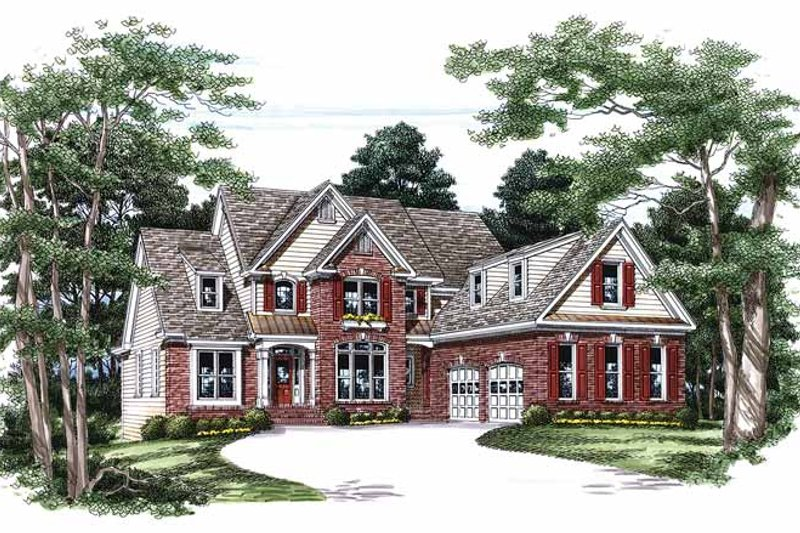 Colonial Exterior - Front Elevation Plan #927-103