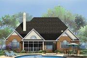 European Style House Plan - 3 Beds 2.5 Baths 2344 Sq/Ft Plan #929-964 Exterior - Rear Elevation