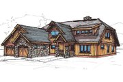 Craftsman Style House Plan - 3 Beds 3 Baths 3627 Sq/Ft Plan #921-24 Exterior - Front Elevation