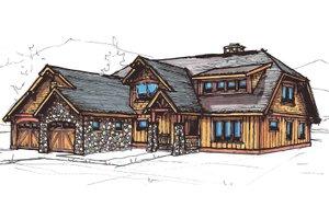 Craftsman Exterior - Front Elevation Plan #921-24
