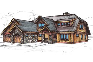 Craftsman Exterior - Front Elevation Plan #921-24