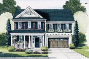 Traditional Exterior - Front Elevation Plan #46-513
