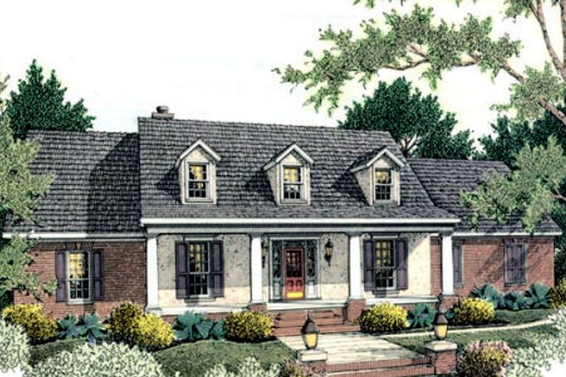 Dream House Plan - Traditional Exterior - Front Elevation Plan #406-133