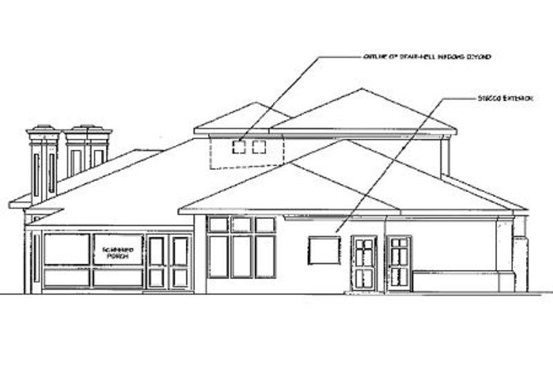 Exterior - Rear Elevation Plan #124-211 - Houseplans.com