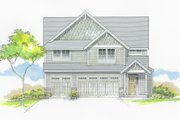 Craftsman Style House Plan - 5 Beds 2.5 Baths 2533 Sq/Ft Plan #53-653 Exterior - Front Elevation
