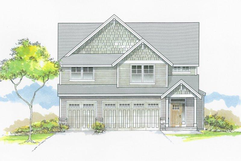 Dream House Plan - Craftsman Exterior - Front Elevation Plan #53-653