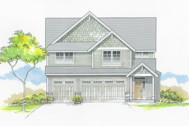 Architectural House Design - Craftsman Exterior - Front Elevation Plan #53-653