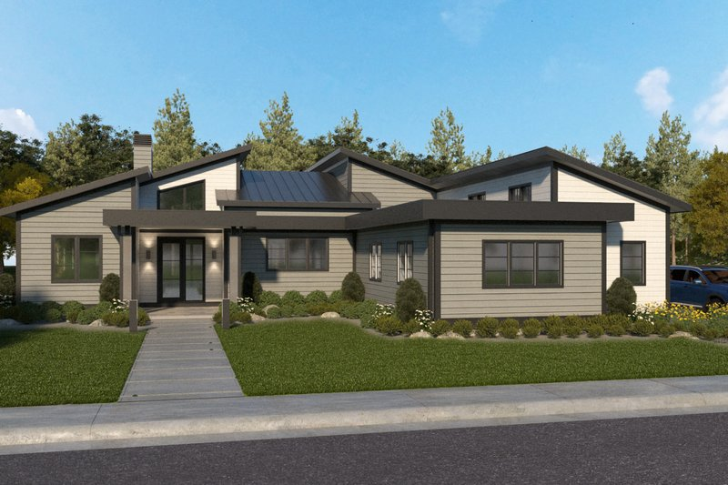 Architectural House Design - Modern Exterior - Front Elevation Plan #928-360