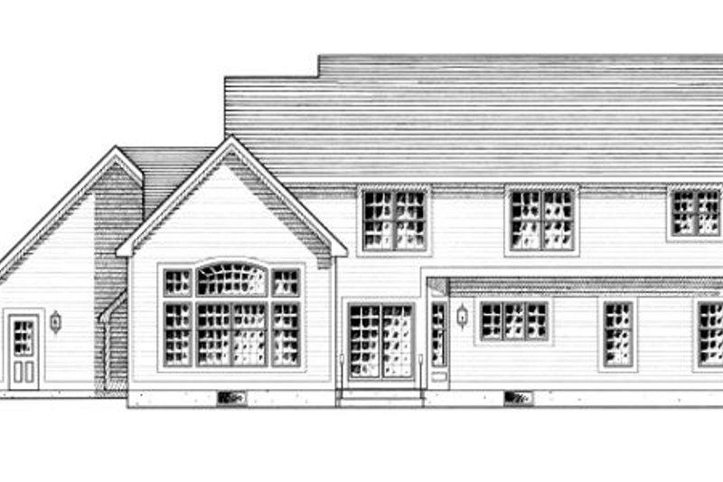 Country Exterior - Rear Elevation Plan #316-106 - Houseplans.com