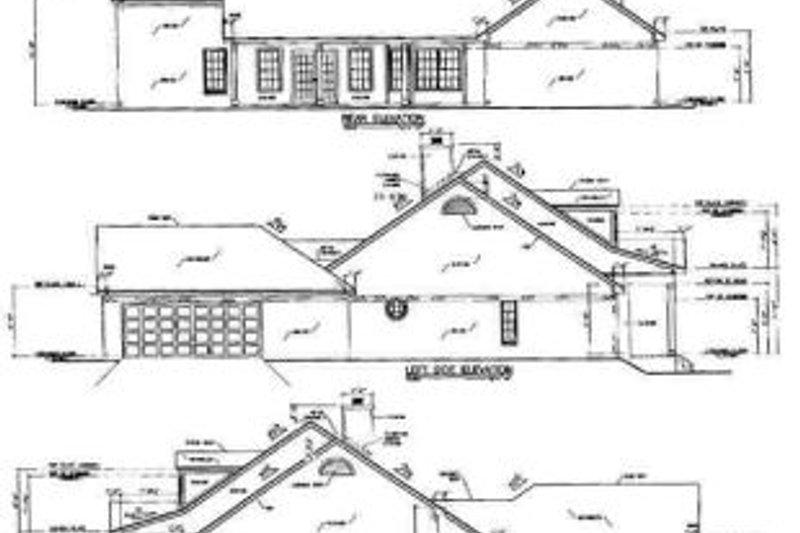 Traditional Exterior - Rear Elevation Plan #36-209 - Houseplans.com