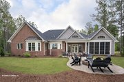 European Style House Plan - 4 Beds 3 Baths 2485 Sq/Ft Plan #929-25 Exterior - Rear Elevation