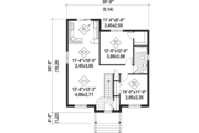 Country Style House Plan - 2 Beds 1 Baths 910 Sq/Ft Plan #25-4594 Floor Plan - Main Floor Plan