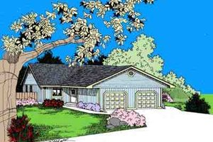 Ranch Exterior - Front Elevation Plan #60-631