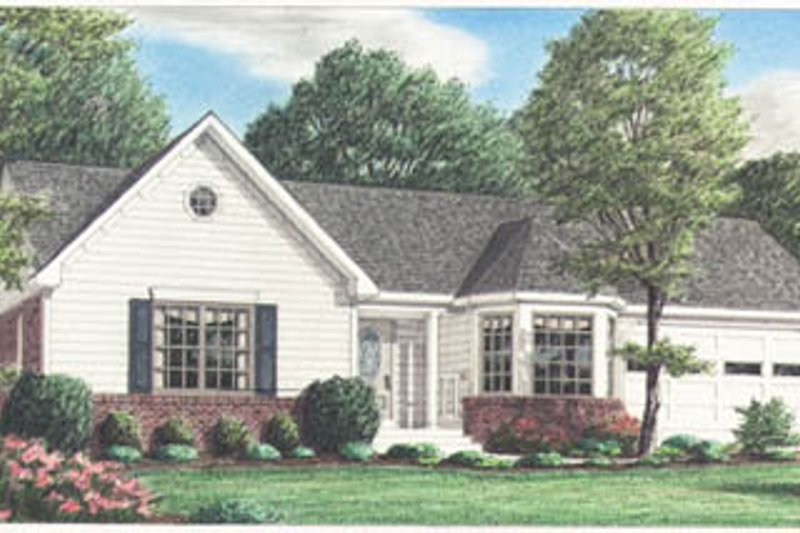 Traditional Exterior - Front Elevation Plan #34-135 - Houseplans.com