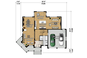 Traditional Style House Plan - 3 Beds 2 Baths 2701 Sq/Ft Plan #25-4344 Floor Plan - Main Floor Plan
