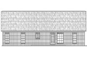 Traditional Style House Plan - 3 Beds 2 Baths 1400 Sq/Ft Plan #430-8 Exterior - Rear Elevation