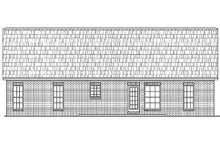 Home Plan - Traditional Exterior - Rear Elevation Plan #430-8