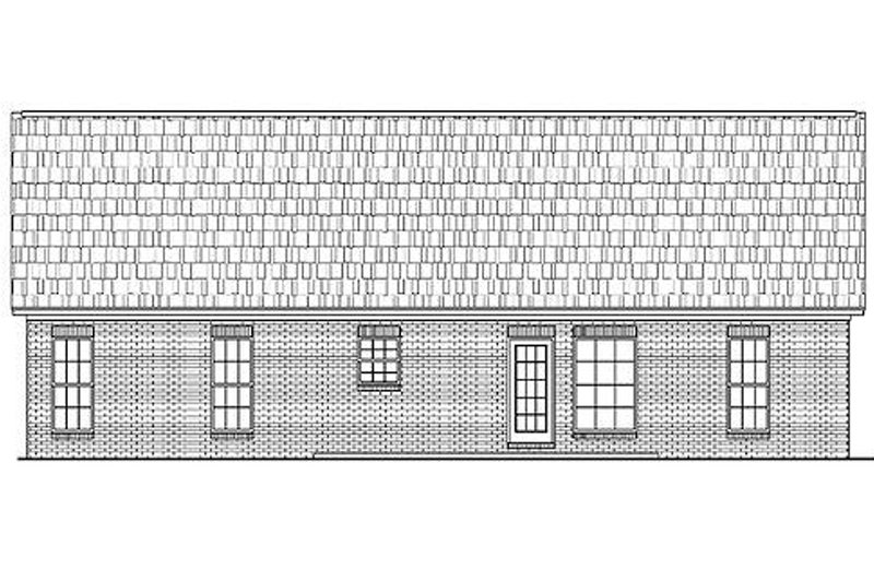 Traditional Exterior - Rear Elevation Plan #430-8 - Houseplans.com