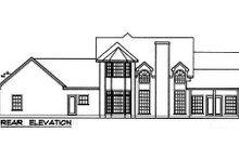 Country Exterior - Rear Elevation Plan #40-128