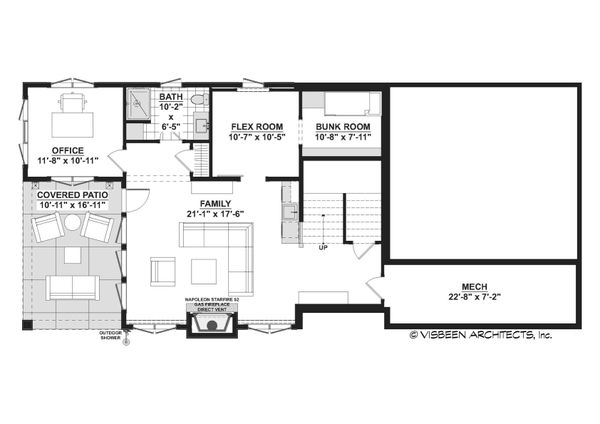 Cottage Floor Plan - Lower Floor Plan #928-354