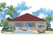 Mediterranean Style House Plan - 2 Beds 2 Baths 1727 Sq/Ft Plan #930-392 Exterior - Rear Elevation