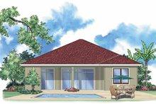 House Plan Design - Mediterranean Exterior - Rear Elevation Plan #930-392