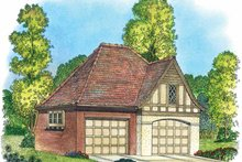 House Plan Design - European Exterior - Front Elevation Plan #1016-84
