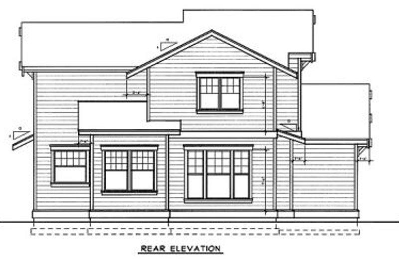 Bungalow Exterior - Rear Elevation Plan #94-206 - Houseplans.com