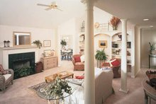 Architectural House Design - Country Interior - Family Room Plan #929-190