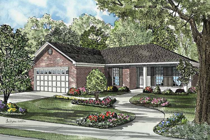 Country Exterior - Front Elevation Plan #17-3169