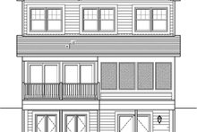 Traditional Exterior - Rear Elevation Plan #1010-77